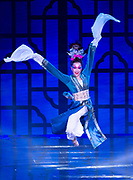 HONG KONG,HONG KONG SAR,CHINA: DECEMBER 2,2019.2019 AFC Annual Awards.<br /> A traditional Chinese Long Sleeve dance is performed.The dancers wore very long silk sleeves that covered their hands and further extend. Alamy Stock Photo/Jayne Russell