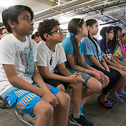 KEY BISCAYNE, FLORIDA, MARCH 22, 2017<br /> Students listen to instructions at Marjory Stoneman Douglas Biscayne Nature Center as part of the United Nations World Water Day activities. Philippe Cousteau, Jr and the EarthEcho team aided by Miami Waterkeeper and educators from the Nature Center, worked with 125 fifth grade students from Citrus Grove Elementary School and the American Heritage School.<br /> (Photo by Angel Valentin/Freelance)