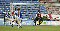 Photo: Aidan Ellis.<br /> Huddersfield Town v Bristol City. Coca Cola League 1. 12/08/2006.<br /> Huddersfield's Luke Beckett scores the equaliser