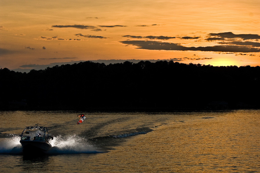 Terry Bailey shot for Unleashed Wakeboard Magazine in Lake Gaston, North Carolina.