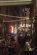 Turkey. Istambul. Beyoglu district. urban life IN THE TRENDY AREA AT NIGHT