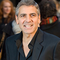 LONDON, Leicester Square  8th April 2008 A kiss for George. George Clooney, director and star of Leatherheads .and his leading lady and fellow Oscar winner Renee Zellweger unveil their new romantic comedy .at the film's European Premiere  in London's Odeon Leicester Square.