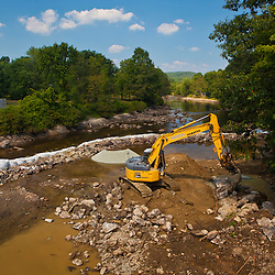 Restoration of the Ashuelot River in Swanzey, New Hampshire. After removal of the Homestead Woolen Mill Dam.