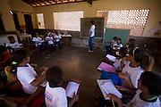 Sao Luis_MA, Brasil...Comunidade Santana. Escola Municipal Nossa Senhora de Santana - sede antiga..The Santana community. The Municipal School Nossa Senhora de Santana...Foto: LEO DRUMOND / NITRO
