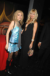 Left to right, WAFAH DUFOUR Osama bin Laden's niece and model CAPRICE at Andy & Patti Wong's Chinese new Year party held at County Hall and Dali Universe, London on 26th January 2008.<br />