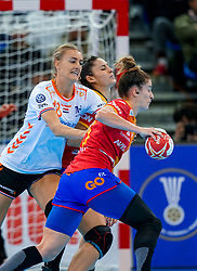 15-12-2019 JAP: Final Netherlands - Spain, Kumamoto<br /> The Netherlands beat Spain in the final and take historic gold in Park Dome at 24th IHF Women's Handball World Championship / Kelly Dulfer #18 of Netherlands