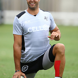 DURBAN, SOUTH AFRICA - Marco Wentzel during the Cell C Sharks training session at Growthpoint Kings Park Durban, South Africa. (Photo by Steve Haag)