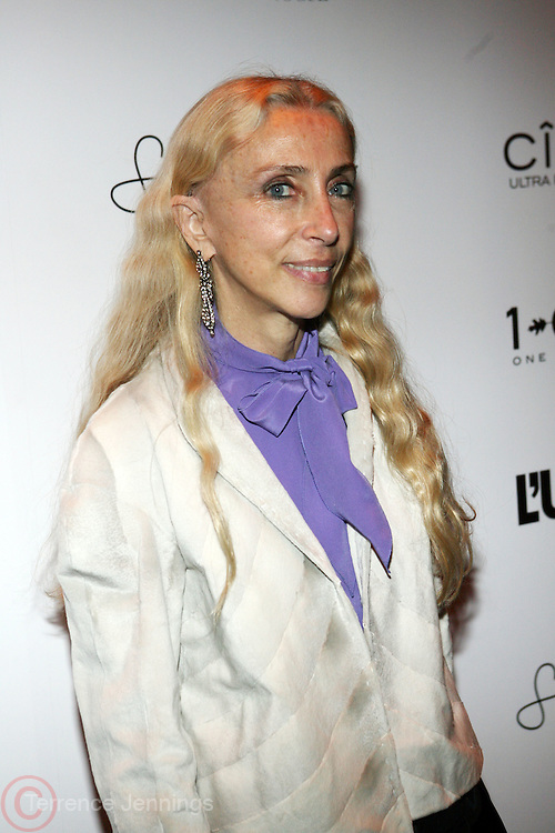 "Franca Sozzani pictured at the cocktail party celebrating Sean ""Diddy"" Combs appearance on the "" Black on Black "" cover of L'Uomo Vogue's October Music Issue"