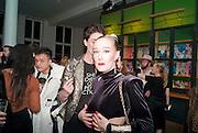 ERIN O'CONNOR; ALEX BOX; , 30 Years Of i-D - book launch. Q Book 5-8 Lower John Street, London . 4 November 2010. -DO NOT ARCHIVE-© Copyright Photograph by Dafydd Jones. 248 Clapham Rd. London SW9 0PZ. Tel 0207 820 0771. www.dafjones.com.