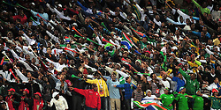 Local Crowd  during the soccer match of the 2009 Confederations Cup between Spain and Iraq played at Vodacom Park,Bloemfontein,South Africa on 17 June 2009.  Photo: Gerhard Steenkamp/Superimage Media.