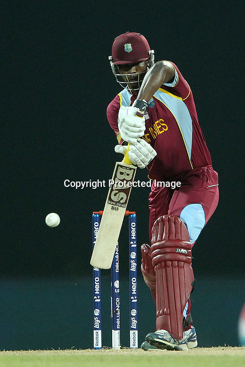 Johnson Charles of The West Indies during the ICC World Twenty20 Super 8s match between Sri Lanka and The West Indies held at the  Pallekele Stadium in Kandy, Sri Lanka on the 29th September 2012<br /> <br /> Photo by Ron Gaunt/SPORTZPICS