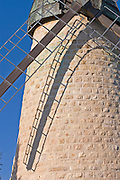 The windmill at Yemin Moshe, Jerusalem, Israel, the first Jewish residence built outside the Old City walls is named after Sir Moses Montefiore who established the neighborhood The windmill was erected by Moshe Moses Montefiore in 1857 for grinding grain into flour