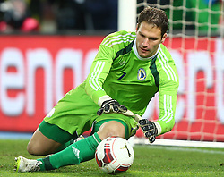 31.03.2015, Ernst Happel Stadion, Wien, AUT, Freundschaftsspiel, Oesterreich vs Bosnien Herzegowina, im Bild Asmir Begovic (BiH) // during the friendly match between Austria and Bosnia and Herzegovina at the Ernst Happel Stadion, Vienna, Austria on 2015/03/31. EXPA Pictures © 2015, PhotoCredit: EXPA/ Thomas Haumer