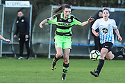 Forest Green Rovers Ashleigh Watson(3) on the ball during the South West Womens Premier League match between Forest Greeen Rovers Ladies and Marine Academy Plymouth LFC at Slimbridge FC, United Kingdom on 5 November 2017. Photo by Shane Healey.