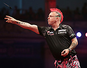 Peter Wright during the World Matchplay Darts 2019 at Winter Gardens, Blackpool, United Kingdom on 24 July 2019.