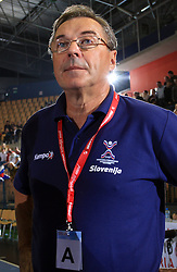 Head coach of Slovenia Miro Pozun at qualification match for  Euro 2010 in Austria between national teams of Slovenia and Germany, Group 5, on November 2, 2008 in Arena Zlatorog, Celje, Slovenia. (Photo by Vid Ponikvar / Sportal Images)/ Sportida