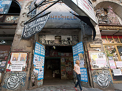 Entrance to Tacheles Kunsthaus or Art Gallery alternative collective on Oranienburger strasse in Mitte Berlin Germany