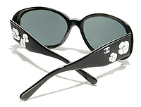 Chanel Sunglasses with white flowers