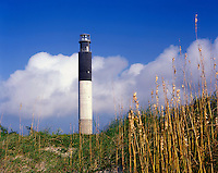 AA05893-01...NORTH CAROLINA - Oak Island Lighthouse on Long Bay near the mouth of the Cape Fear River.