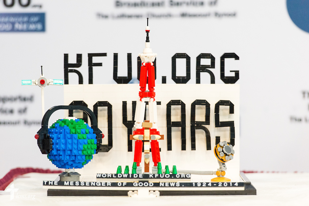 KFUO Lego installation in the International Center of The Lutheran Church–Missouri Synod on Tuesday, Nov. 4, 2014, in Kirkwood, Mo. LCMS Communications/Erik M. Lunsford