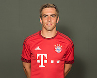 German Soccer Bundesliga 2015/16 - Photocall of FC Bayern Munich on 16 July 2015 in Munich, Germany: Philipp Lahm