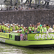 NLD/Amsterdam/20180604 - Gaypride 2018, Greenpeace boot