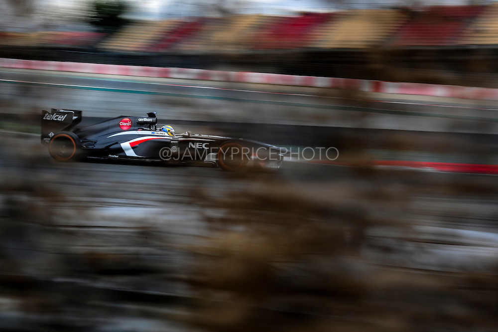 February 19, 2013 - Barcelona Spain. Esteban Gutierrez, Sauber F1 Team  during pre-season testing from Circuit de Catalunya.