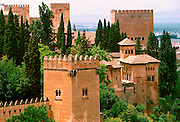SPAIN, ANDALUSIA, GRANADA the Alhambra; 14th c Moorish palace city