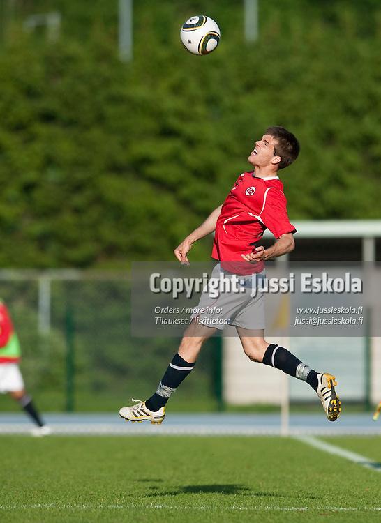 Joachim Thomassen. Suomi - Norja. Alle 21-vuotiaiden maaottelu. U21. Espoo 2.6.2010. Photo: Jussi Eskola