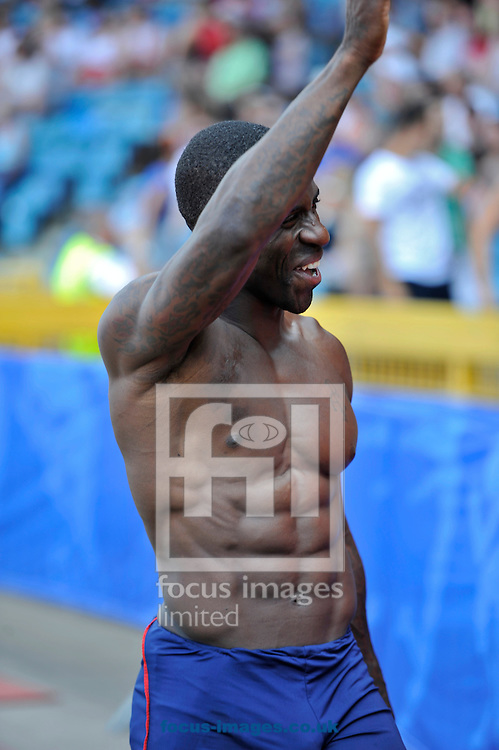 Picture by Alan Stanford/Focus Images Ltd +44 7915 056117<br /> 12/07/2013<br /> Dwain Chambers (GBR) 100m pictured during day two of Sainsbury's British Championship at Alexander Stadium, Birmingham.