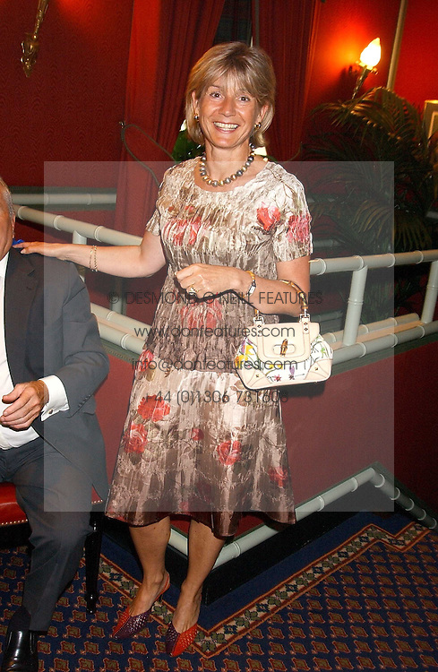 GISELLE ROUX wife of Michel Roux at the presentation of a Chevalier dans l'ordre de la LŽgion d'Honneur to chef Albert Roux held at Le Gavroche, 43 Upper Brook Street, London on 9th September 2005.<br />