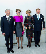 Brussel , 22-012016<br /> <br /> King-WIllem-Alexander and Queen Maxima attended the EU concert with King Filip and Queen Mathilde.<br /> Royalportraits Europe/Bernard Ruebsamen