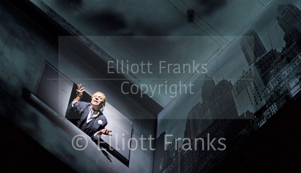 Needles and Opium <br /> by Ex Machina/Robert Lepage <br /> at The Barbican Theatre, London, Great Britain <br /> 7th July 2016 <br /> rehearsal <br /> <br /> directed &amp; presented by Robert Lepage<br /> <br /> <br /> Photograph by Elliott Franks <br /> Image licensed to Elliott Franks Photography Services