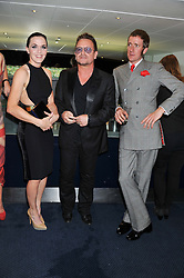 Left to right, VICTORIA PENDLETON, BONO and BRADLEY WIGGINS at the GQ Men of The Year Awards 2012 held at The Royal Opera House, London on 4th September 2012.