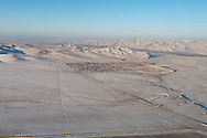 Mongolia. Ulaanbaatar. Aerial view of the capital Ulan Baatar in winter covered with snow  Ulan Baatar - Mongolia    /   vue aerienne de la capitale Oulan Bator en hiver sous la neige  Oulan Bator - Mongolie