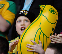 Photo: Leigh Quinnell.<br /> Chelsea v Norwich City. The FA Cup. 17/02/2007.<br /> A young Norwich fan enjoys the game.