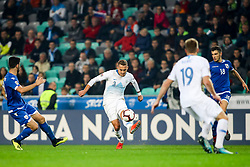Jure Balkovec of Slovenia during football match between National Teams of Slovenia and Cyprus in Final Tournament of UEFA Nations League 2019, on October 16, 2018 in SRC Stozice, Ljubljana, Slovenia. Photo by  Morgan Kristan / Sportida
