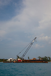 Floating crane in, Nassau Bahamas.