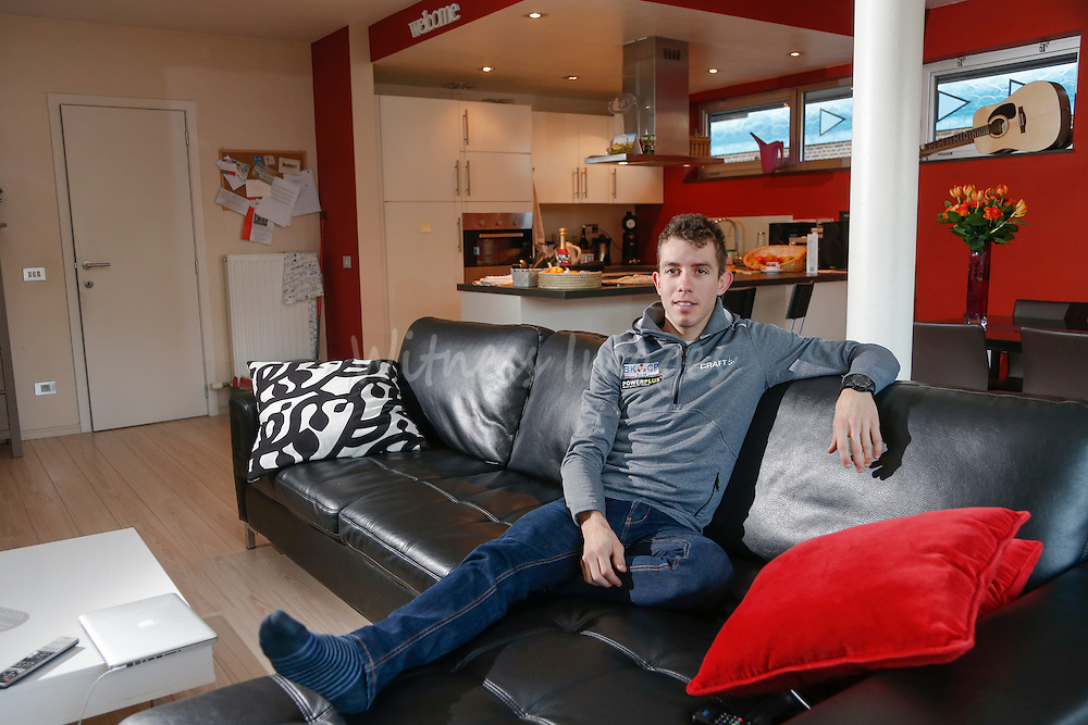 German cyclocross pro rider Philipp Walsleben of BKCP-Powerplus team at his home, in Aarschot, November 20, 2013.  Babylonia/Thierry Roge