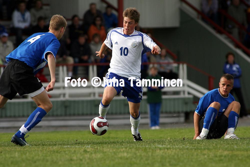 09.06.2008, Eura..U-17 (1991 syntyneet) maaottelu Suomi - Viro.Johannes West? - Suomi.©Juha Tamminen.....ARK:k
