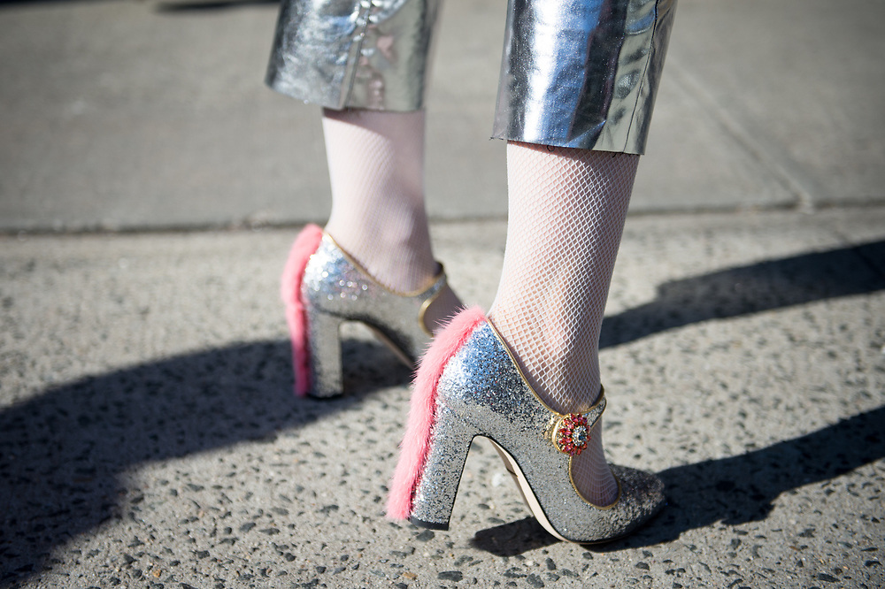 Silver Shoes on Mademoiselle Meme, Collina Strada FW2018