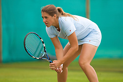 Liverpool, England - Friday, June 15, 2007: Olga Savchuk (UKR) in action on day four of the Liverpool International Tennis Tournament at Calderstones Park. For more information visit www.liverpooltennis.co.uk. (Pic by David Rawcliffe/Propaganda)
