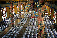 The world famous Caodai Great Temple interior in Tay Ninh.