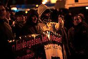 Dresden | 19.11.2011..Neonazis aus ganz Deutschland und aus anderen Ländern Europas planten in Dresden wie in den vergangenen Jahren eine Demonstration (Trauermarsch), um an die Bombardierung Dresdens am 13.02.1945 zu erinnern. Der Tag entwickelte sich für die Neonazis zum Fiasko, über 20000 Demonstranten verhinderten mit Mahnwachen, Demonstrationen und Blockaden die Demo-Versuche der Neonazis..Hier: Neonazis haben sich im Dresdner Ortsteil Plauen versammelt und wollen eine Demonstration durchführen, das ist aber wegen tausender Gegendemonstranten nicht möglich...©peter-juelich.com..[No Model Release | No Property Release]