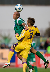 Senad Tiganj of Olimpija vs Elvedin Dzinic of Maribor at 13th Round of Prva Liga football match between NK Olimpija and Maribor, on October 17, 2009, in ZAK Stadium, Ljubljana. Maribor won 1:0. (Photo by Vid Ponikvar / Sportida)