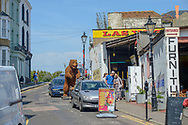 Margate could be classed as a cosmopolitan, arty town, but even so, the appearance of an 8 foot bear is unusual.