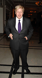 Mayor of London BORIS JOHNSON at a party to celebrate the 180th Anniversary of The Spectator magazine, held at the Hyatt Regency London - The Churchill, 30 Portman Square, London on 7th May 2008.<br /><br />NON EXCLUSIVE - WORLD RIGHTS