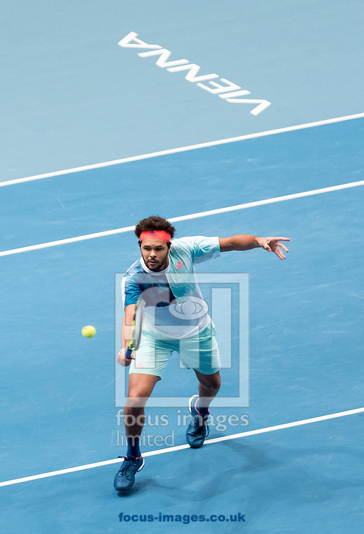 Jo-Wilfred Tsonga during the final of the Erste Bank Open at Wiener Stadthalle, Vienna, Austria.<br /> Picture by EXPA Pictures/Focus Images Ltd 07814482222<br /> 30/10/2016<br /> *** UK &amp; IRELAND ONLY ***<br /> EXPA-PUC-161030-0322.jpg