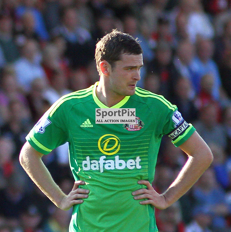 Adam Johnson wearing the captains armband During Bournemouth vs Sunderland on Saturday 19th September 2015.