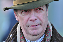 © Licensed to London News Pictures.26/12/2017.<br /> CHIDDINGSTONE, UK.<br /> Nigel Farage at the hunt meeting point at Chiddingstone Castle.<br /> Old Surrey Burstow and West Kent boxing day hunt at Chiddingstone Castle<br /> Photo credit: Grant Falvey/LNP
